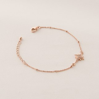 Star of Bethlehem bracelet - rose gold