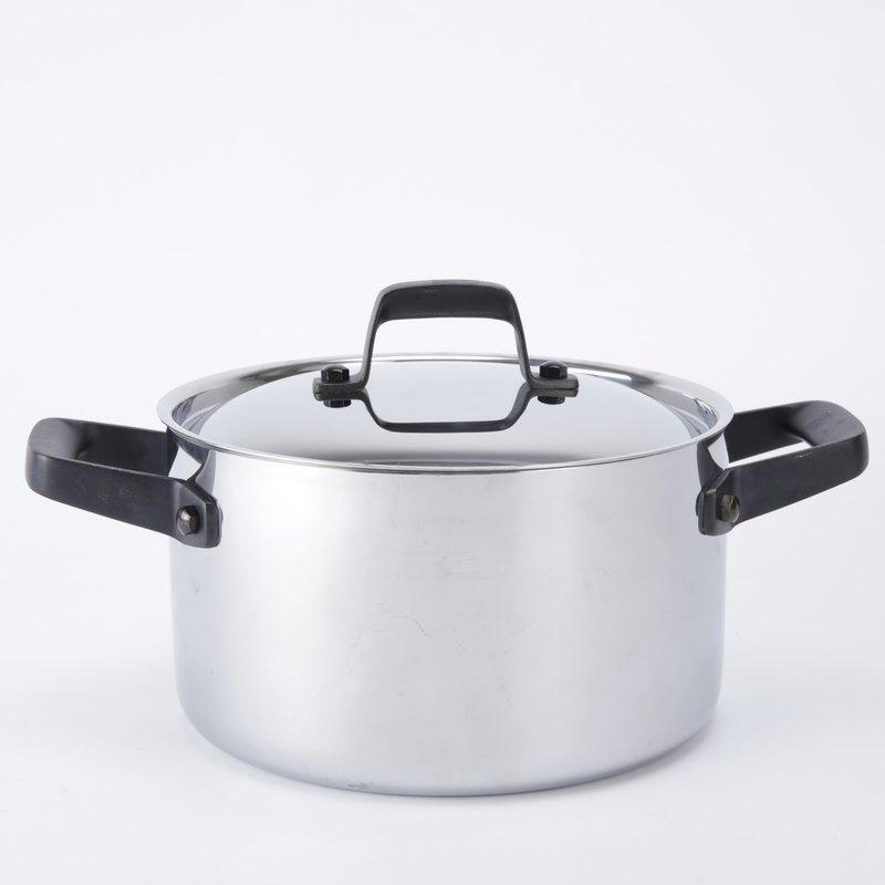 HOLA 316複合不鏽鋼雙耳湯鍋22cm