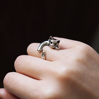 Cat ring (Pixie) Sapphire SILVER RING