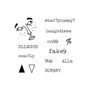 funny Cantonese profanity tattoo sticker set