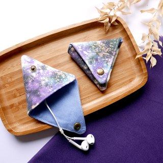 Starry sky Handmade Tie dye Triangular Coin Case  Xmas gifts