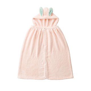 CB Japan Children's Animal Model Microfiber Shawl (with cap) - White Rabbit Powder