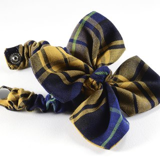 Handmade Tartan Elastic Hair Accessory-Flower Scrunchy Ponytail Holder【ZAZAZOO】