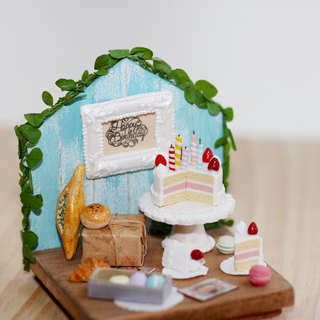 Pocket scene birthday card Miniature Happy Birthday Party