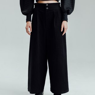 Alan Hu 2017 A / W Mid-rise slim trousers
