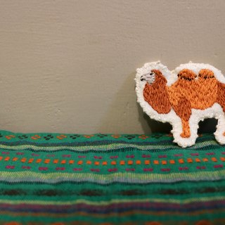 Frontier camel embroidery pin brooch