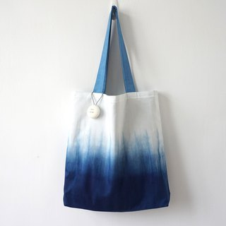 S.A x Spruce Forest, Indigo dyed Handmade Natural Pattern Tote Bag (L)