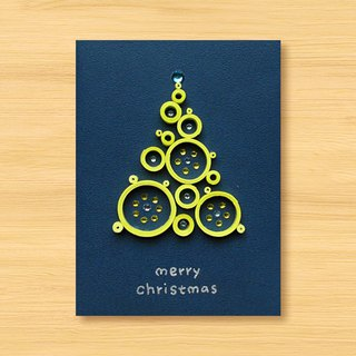 Handmade Roll Paper Christmas Card _ Blessings from afar ‧ Dream Bubble Christmas Tree _H