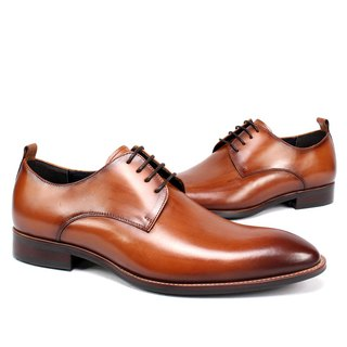 Sixlips V-Front simple yas rendering derby shoes brown