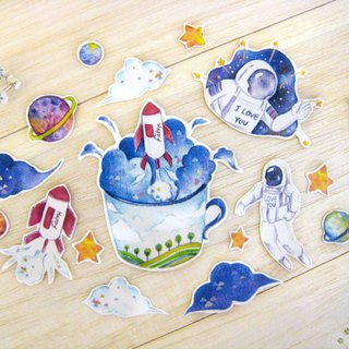 """The natural system - the Cosmos and astronauts"" sticker set"