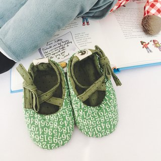 125 Japanese green number X Japan dyed little hand-bandage baby shoes baby shoes toddler shoes
