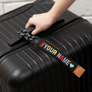 【Make Your Own Message】Special Customized Embroidery Luggage Tag -Black (EMA002)