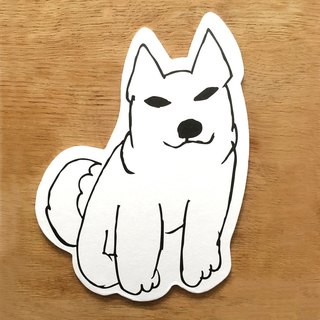 I treasure the dog coaster postcard (Shiba)