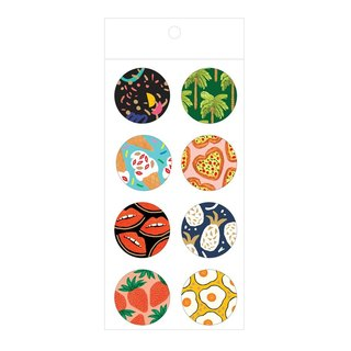 7321 painted graffiti decorative round bronzing sealing paste M-BBH flowers totem, 73D88841