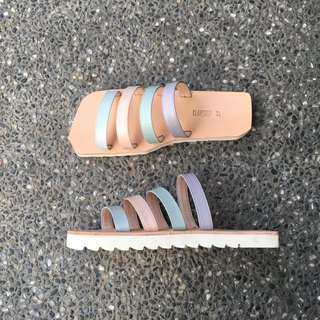 CLAVESTEP IX Sandals - Leather Sandals - Spring Light Muted Tones
