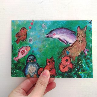 Animal companions_postcard_cards