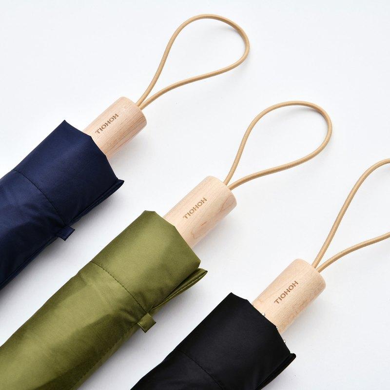 【庶民楓木 / 手開折傘】抗UV 雨傘 折疊傘 陽傘 超輕