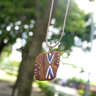 Natural wood necklace hand-painted necklace Upcycling upgrade environmental protection and recycling