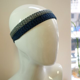 Hand weaving head with blue gray