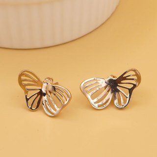 Little Butterfly Earring no.2 - Pink gold plated on brass