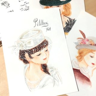 Pillbox Hat / Original Art-piece