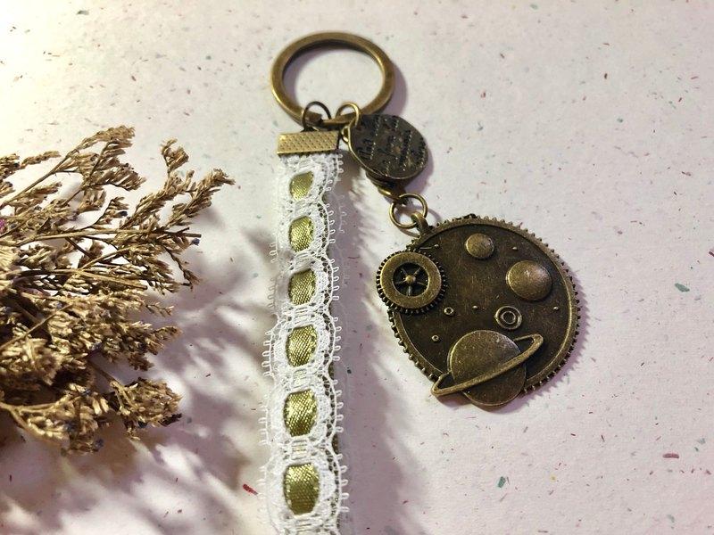 【專屬客製】名為你的宇宙 古銅吊飾 /情侶/情人節禮物/鑰匙圈
