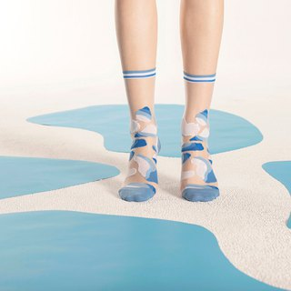 Glacial Lake Sky Sheer Socks | transparent see-through socks | colorful socks