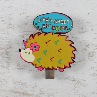 Modeling Wood Clip Magnet - Life's Short Eat Chips∣CHCL03