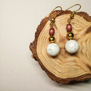 Vintage natural stone earrings