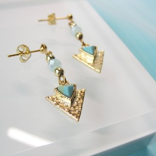 Turquoise - Triangle Arrow Spear Pendant Earring