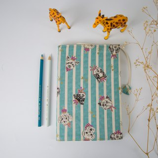Pu.sozo cloth hand made (dog party) cloth book cover / book clothing / adjustable book clothing / book cover / book cover