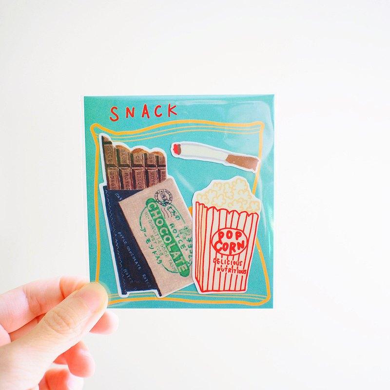 E*group  E rei 零食插畫 PVC防水貼紙 造型貼紙 貼紙包
