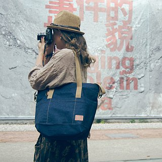 MT01 Tote Bag cotton canvas Denim (outer bag)