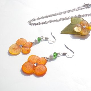 Annys workshop handmade jewelry, Hydrangea jewelry set,  The spring of color