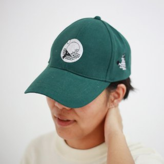 sport funny cap table tennis green colour