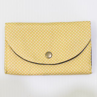 S, HU - Second Edition Small Box Multi-layer Coin Purse (Yellow Dot)