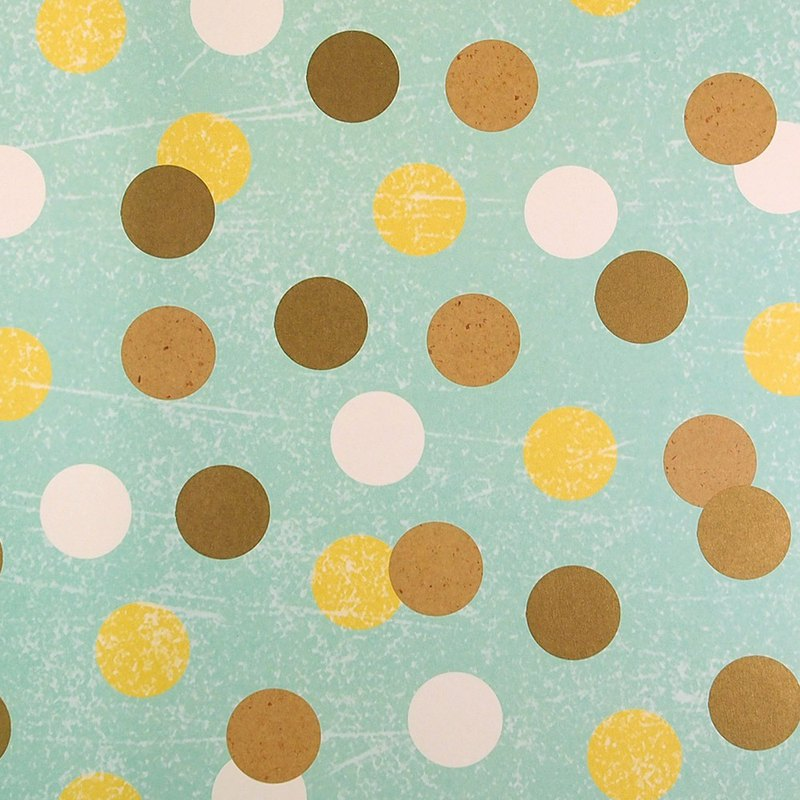 Bottom green with dot dot wrapping paper [Hallmark-wrapping paper]
