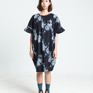 Alan Hu 2017 S/S Hand Pull Long Color Dress