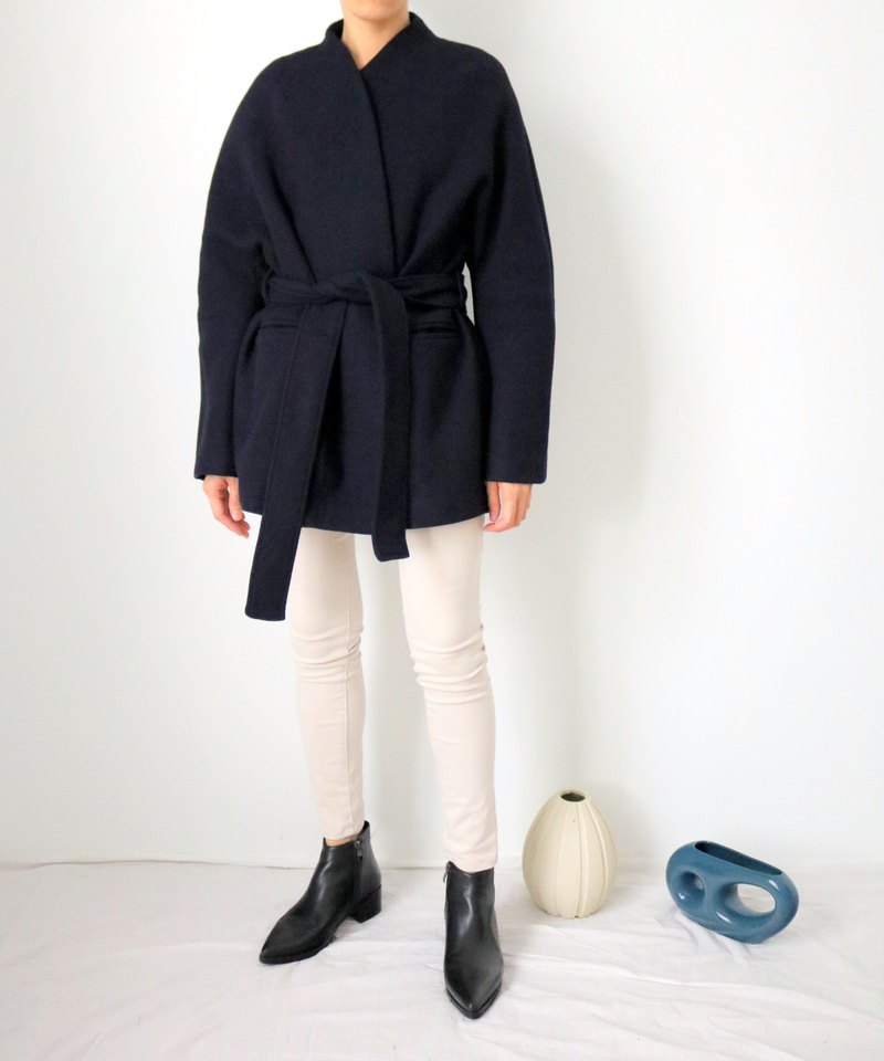 Ishiji Kimono Jacket 和服式羊毛短大衣 4色