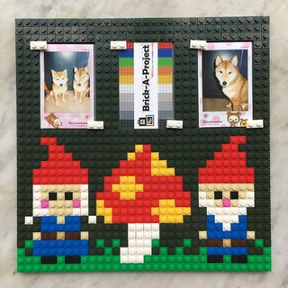 Gnome Lego like brick photo frame Size 26x26cm