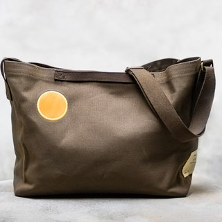 Small days canvas warm sun bag _ dark brown