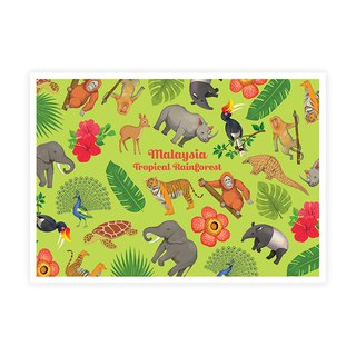 Tropical Rainforest Postcard