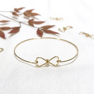 Bangle 。Elegant。Bow。14Kgold。