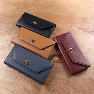 envelope handmade leather wallet long wallet