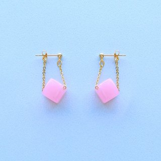 Chicken Maru lab micro-sweet early summer cherry sugar candle earrings / ear clip (ED001)