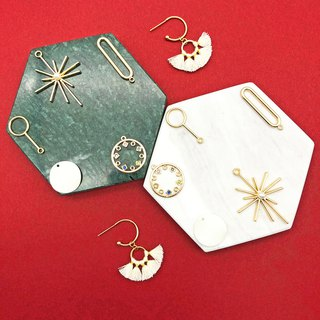 Stars 14kgf Earrings 【Geometric Earrings】 【Christmas Earrings】【Gift】