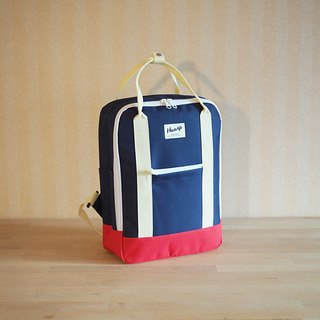BACKPACK Navy / Red / Beige