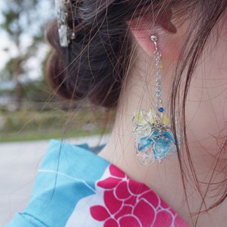 cLeAr flowers hand made transparent summer bouquet earrings - L size can be changed