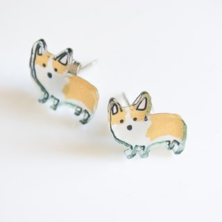 Dog Studs - Corgi Earrings - Small Studs - Cute Earrings