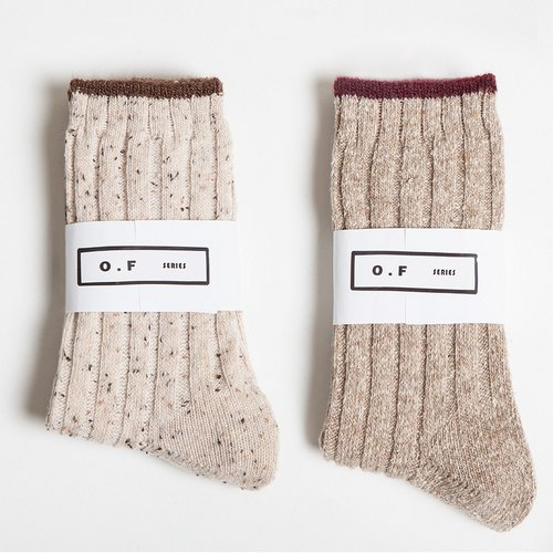 Two color tube cotton socks female (not 包邮)